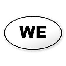We Sticker (oval)