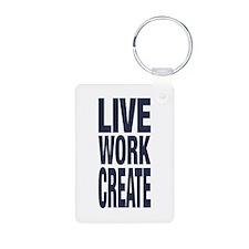 Live Work Create Keychains