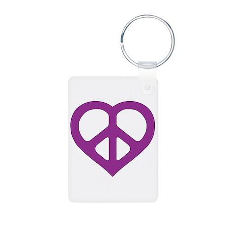 Purple Heart Aluminum Photo Keychain