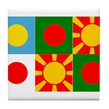 Six rising suns Tile Coaster