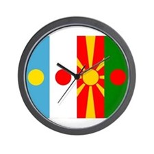 Rising four suns flags Wall Clock