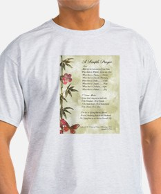Pope Francis St. Francis SIMPLE PRAYER-Bamboo T-Sh