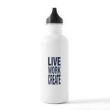 Live Work Create Water Bottle