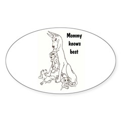 C Mommy KB Oval Decal