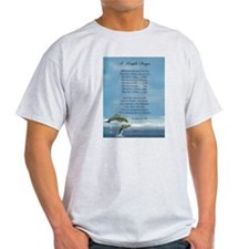 Pope Francis St. Francis SIMPLE PRAYER-Dolphins T-