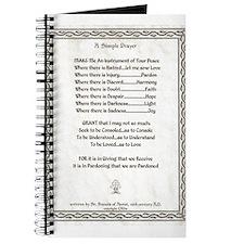 Pope Francis St. Francis SIMPLE PRAYER-Parchment J