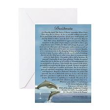 DESIDERATA Poem Dolphins Greeting Card