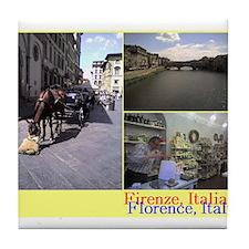 Ponte Vecchio, Firenze, Italia. Tile Coaster