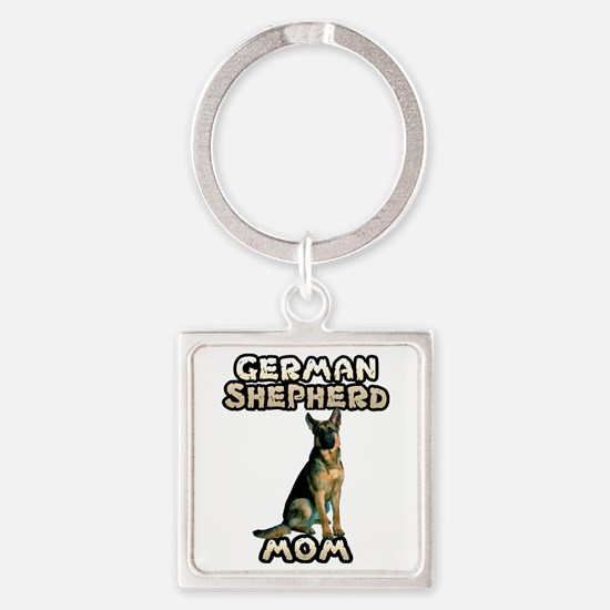 German Shepherd Mom Square Keychain
