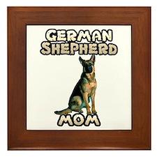 German Shepherd Mom Framed Tile