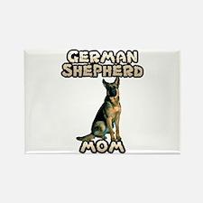 German Shepherd Mom Rectangle Magnet