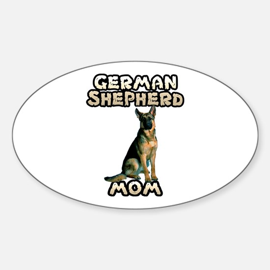 German Shepherd Mom Sticker (Oval)