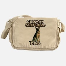 German Shepherd Dad Messenger Bag