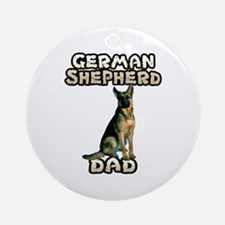 German Shepherd Dad Ornament (Round)