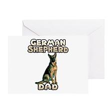 German Shepherd Dad Greeting Card