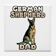 German Shepherd Dad Tile Coaster