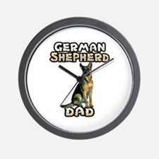 German Shepherd Dad Wall Clock
