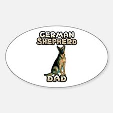 German Shepherd Dad Sticker (Oval)