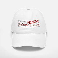 Job Ninja 4th Grade Baseball Baseball Cap