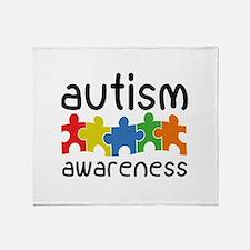 Autism Awareness Stadium Blanket
