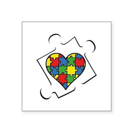 Autism Awareness Square Sticker 3 U0026quot  X 3 U0026quot  By Funniestsayings