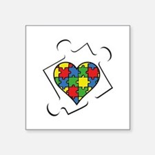 "Autism Awareness Square Sticker 3"" x 3"""