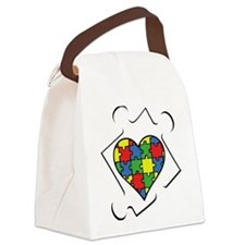 Autism Awareness Canvas Lunch Bag