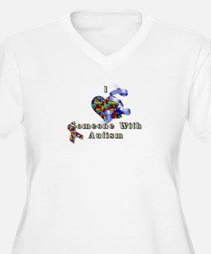 I Love Someone With Autism Plus Size T-Shirt