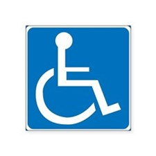 Handicapped Sign Rectangle Sticker