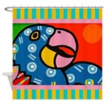 Tropical Parrot Shower Curtain