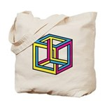 Cube Illusion Tote Bag