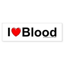 Blood Bumper Sticker