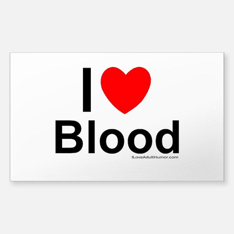 Blood Sticker (Rectangle)