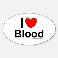 Blood Sticker (Oval)