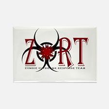 Zombie Outbreak Response Team Logo Rectangle Magne