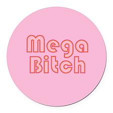 mega-b-b.png Round Car Magnet