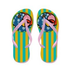 Tropical Parrot Flip Flops