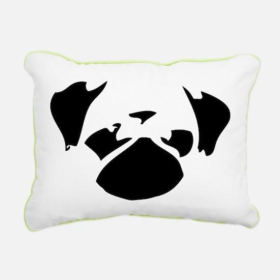 Cutie Pug Rectangular Canvas Pillow