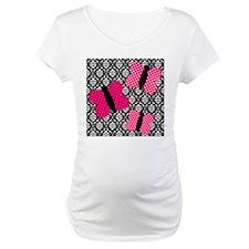 Hot Pink Butterflies on Damask Shirt