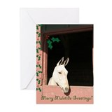 Christmas equine Greeting Cards (10 Pack)