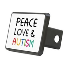 Peace Love & Autism Hitch Cover