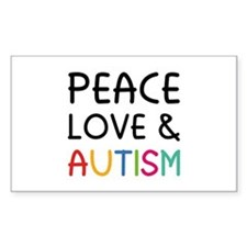 Peace Love & Autism Decal