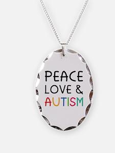 Peace Love & Autism Necklace