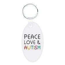 Peace Love & Autism Keychains