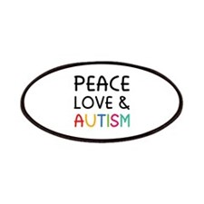 Peace Love & Autism Patches