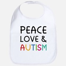 Peace Love & Autism Bib