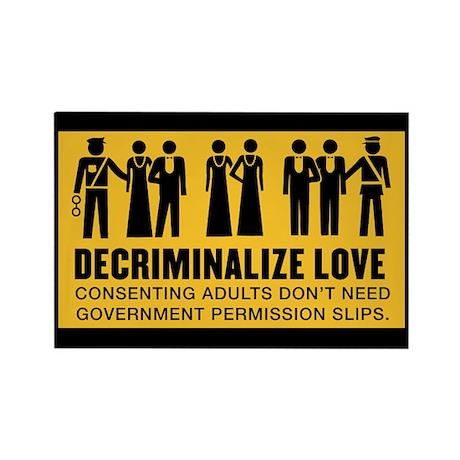 Decriminalize Love Rectangle Magnet