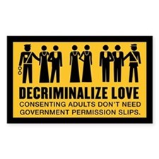 Decriminalize Love Decal
