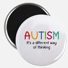 """Autism It's a different way of thinking 2.25"""" Magn"""