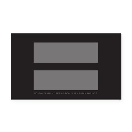 No Government Marriage Rectangle Car Magnet